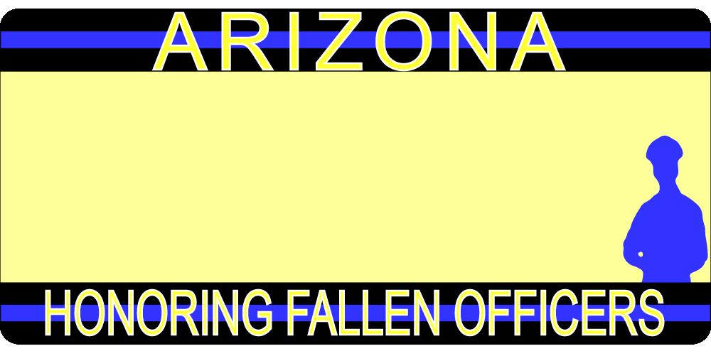 C.O.P.S. AZ License Plate
